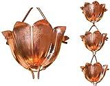 Monarch Rain Chains 28501 3' Pure Copper Lotus Rain Chain