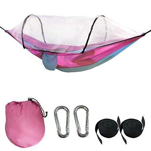 qlly Camping-Hängematte mit Moskitonetz - Ultraleichte Outdoor-Reise-Hängematten für Camping-Wanderrucksack Kapazitäts-Upgrade-Version , Doppel-Camping-Hängematten Net Wasserdicht Tragbar