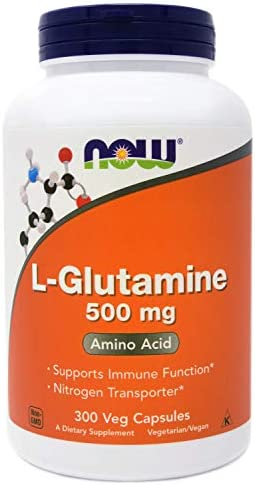 NOW Foods L-Glutamine 500mg - 120 ct (Pack of 2)