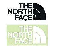 【2枚セット】 ザ・ノースフェイス (THE NORTH FACE) TNF カッティングステッカー ブラック と ホワイト NN88106 K + W
