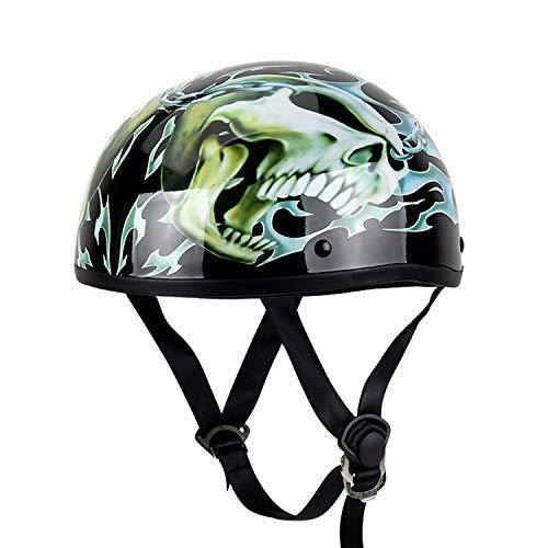 Abierto Adulto Casco De La Motocicleta Estilo Retro para hombre casco mujer para Todas Las Estaciones para Hombres y Mujeres Casco de Vehículo Eléctrico F,L