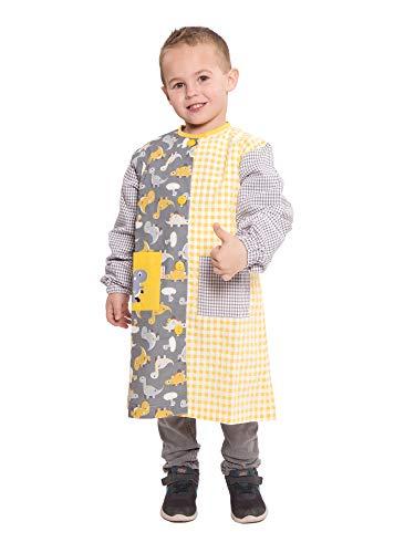 Ardeco's - Baby o bata colegio con botones estampado dinosaurios (4)