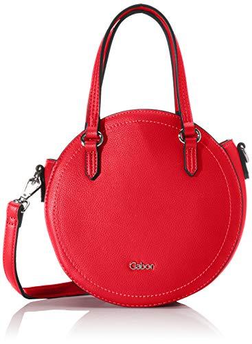 Gabor Umhängetasche Damen, Rot, Morena, 20,5x8x20,5 cm, Schultertasche, Handtasche rund