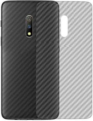 S-Softline Ultra Thin Slim Fit 3M Clear 3D Carbon Fiber Back Skin Rear Screen Guard Protector Sticker Protective for Realme X (Transparent)