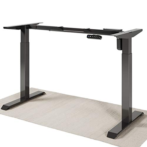 Desktronic Elektrisch Höhenverstellbarer Schreibtisch Gestell – Bringe Deine Eigene Tischplatte an – Schreibtisch Höhenverstellbar - Schnelles Wechseln Zwischen Sitzen und Stehen (Schwarz)