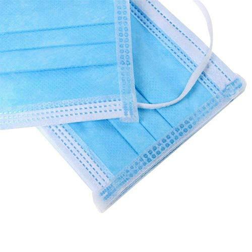 10X Einwegmaske Aktivkohle Maske Staub Mundmaske Mundschutzmaske Atemschutzmaske Hypoallergene Maske Atemschutz Medizinischer Mundschutz zum Schutz vor Bakterien, 3-lagig (10x) - 4