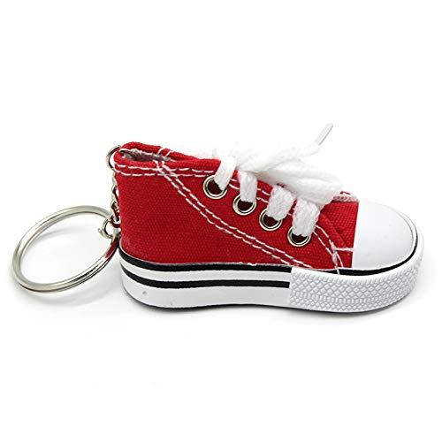 Schuh Sneaker Schlüsselanhänger Leinwand Schuhe Schlüsselanhänger Tasche Charm Frau Männer Kinder Schlüsselanhänger Geschenk Sport weiß Sneaker Schlüsselanhänger lustige Geschenke trendige Schlüsselan