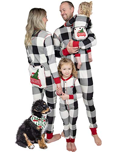 Lazy One Flapjacks, Matching Pajamas for The Dog, Baby & Kids, Teens, and Adults (Tailgate, 18 Months)