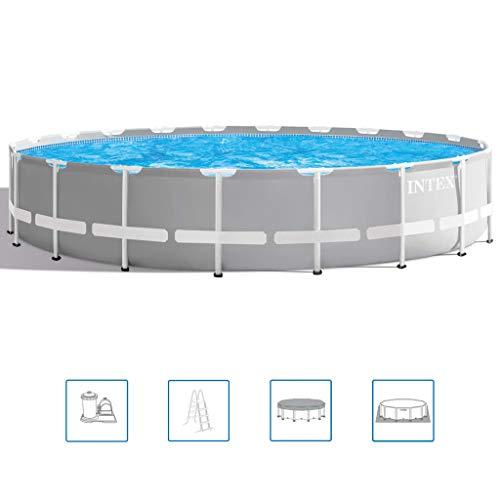 Intex Swimming Pool Komplettset Stahlwand 610x132 cm Schwimmbecken Schwimmbad