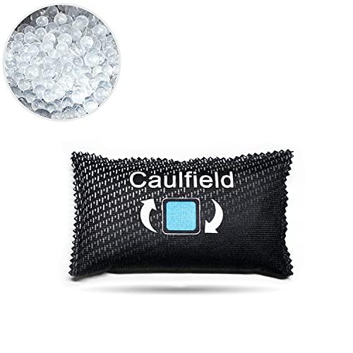 Caulfield Borsa per deumidificatore Borsa per assorbitore di umidità riutilizzabile scolorita, rimuove la condensa e la muffa per auto, barca, rimessaggio, garage e spezie ( 400g )