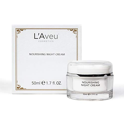 L'Aveu Nourishing Night Cream - Anti-Aging Nighttime Moisturizer for Face - Natural Moisturizing Facial Care Blend with Dead Sea Minerals, Shea Butter, Jojoba & Avocado - Gentle Skin Renewal - 1.7 oz