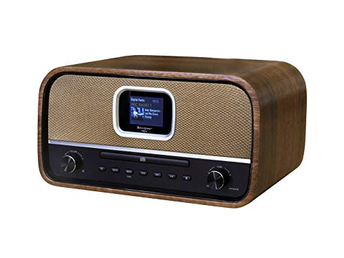 Soundmaster DAB970BR Musikcenter mit DAB+ UKW CD-MP3 USB Bluetooth und Farbdisplay