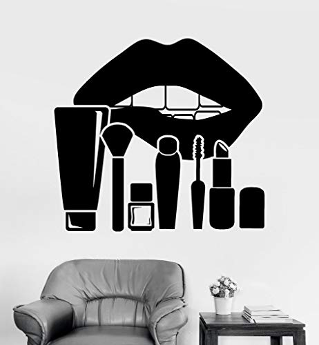 Vinylstickers voor lippen en make-up, voor schoonheidssalons, afneembare vinylstickers, decoratie voor thuis, om zelf te maken, voor nagelwinkels en ramen, 42 x 46 cm
