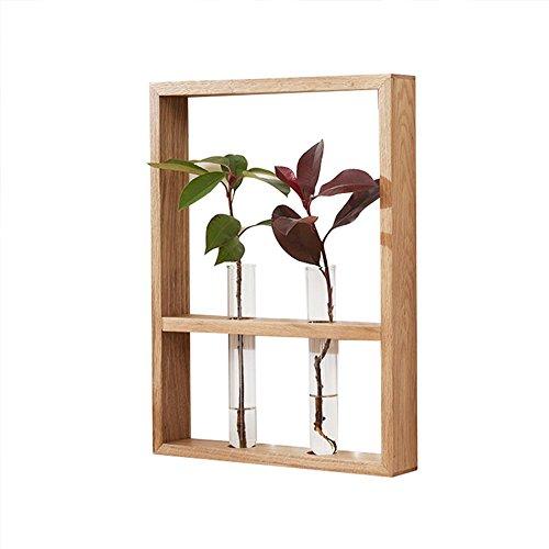 MEIDUO Étagères Support de mur végétal enfichable en bois massif Décoration murale en bois massif, chêne blanc très durable (Couleur : D)