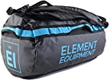 Element Equipment Trailhead Duffel Bag Shoulder Straps Waterproof Black/Blue Small