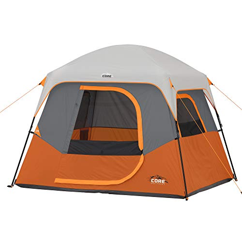 CORE 4/6/6 Person Straight Wall Cabin Tents (4 Person)
