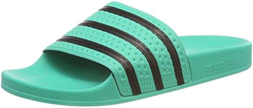 adidas Adilette Zapatos de playa y piscina Hombre, Verde (Hi-res Green S18/Core Black/Hi-res Green S18), 50 EU (14 UK)