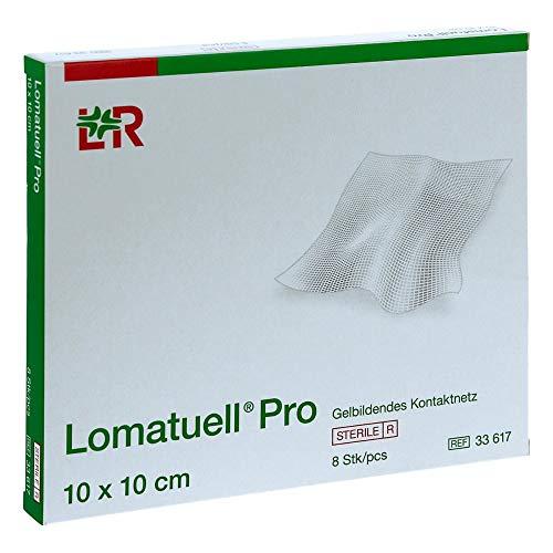 Lomatuell Pro Gelbildendes Kontaktnetz 10 cm x 10 cm, 8 Stück