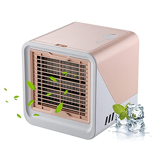 Portable air conditioner mini air cooler multifunctional desktop USB humidifier purifier office bedroom air cooling fan-Pink