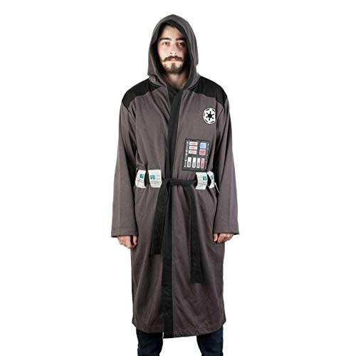 Star Wars Darth Vader Adult's Costume Bath Robe,Grey-dark,Small/ Medium