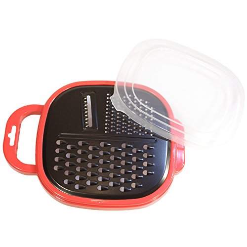 Cheese Grater With Container - Parmesan, Ginger, Butter Grater - BPA Free Food Collection And Storage Container With Handle, 3 Blade Non-stick Coating Vegetable And Fruit Pasta Salad Zester