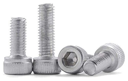 KEKEYANG Tornillo de cabeza hexagonal de aleación de aluminio (tamaño: M5 x 20 x 10 piezas)