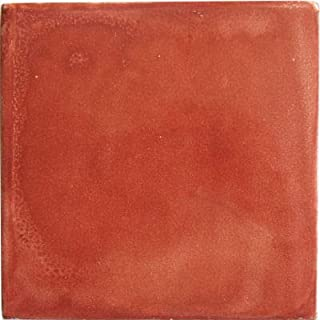 Fine Crafts Imports 6x6 4 pcs Terracotta Clay Tile
