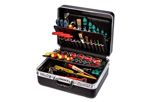 Parat Werkzeugkoffer CLASSIC KingSize TSA Lock (mit Werkzeughalter, Bodenschale, Dokumentenfach und Schloss, Material: X-ABS-Kunststoff; schwarz (leer – ohne Inhalt))