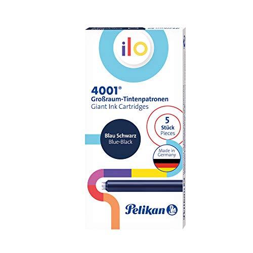 Pelikan 301534 4001 Ilo - Cartuchos de tinta (5 unidades, en caja plegable), color azul y negro
