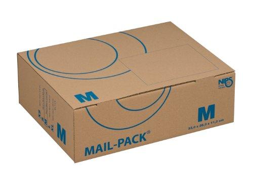 Nips 141312162 / MAIL-PACK® BASIC M Carton d'expédition 330 x 250 x 110 mm Lot de 20 Couleur : marron / bleu (Import Royaume Uni)