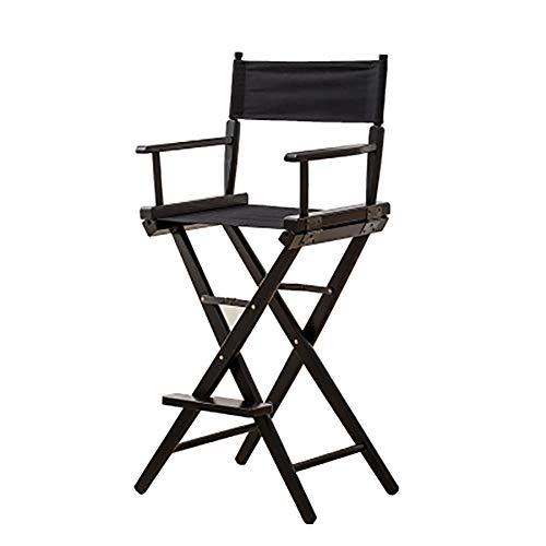 SHARESUN Solid hout directeur stoel, outdoor vouwen draagbaar canvas met voetpedaal rugleuning recreatieve campingstoel, voor volwassen tuin balkon binnenplaats picknickbar