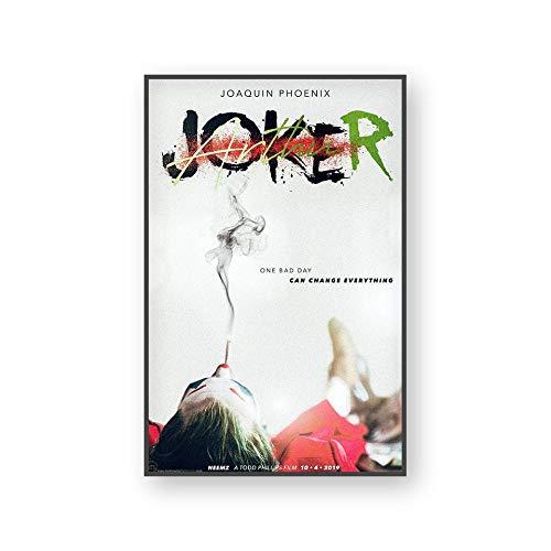 Die Joker Wandkunst Leinwand Malerei Wanddrucke Bilder Film Joker Joaquin Für Studie Home Decor Wasserdicht30x45cm(Kein Rahmen)