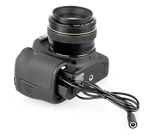 Khalia-Foto - Accoppiatore DC, modello DR-E6 per LP-E6/Canon EOS