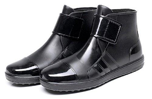 [mikan] メンズ レイン ショート ブーツ 防水 軽量 長靴 ビジネスレインブーツ 作業靴 カジュアル (26cm)
