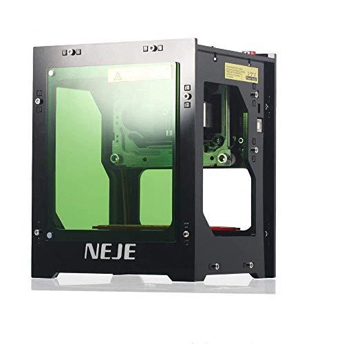 NEJE 1500mW Máquina de Grabado Láser Mini DIY Grabador Laser Bluetooth USB4.0 Máquina de Grabado 550*550 Filtro de Acrílico con Succión Magnética, Operación con un Solo Clic, Sin Necesidad de Código G