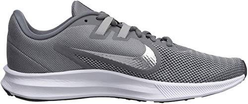 Nike Damen Downshifter 9 Laufschuhe, Grau (Cool Grey/Metallic Silver-Wolf Grey 004), 39 EU