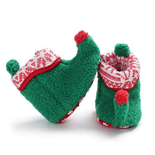 FunPa Zapatos De Bebé De Navidad Creativo Lindo Zapatos De Elfo Zapatos para Niños Pequeños Zapatos De Prewalker para Bebés Zapatos De Invierno
