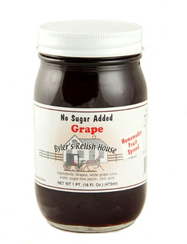 Byler's Relish House Homemade Amish Country No Sugar Added Grape Jelly 16 oz.