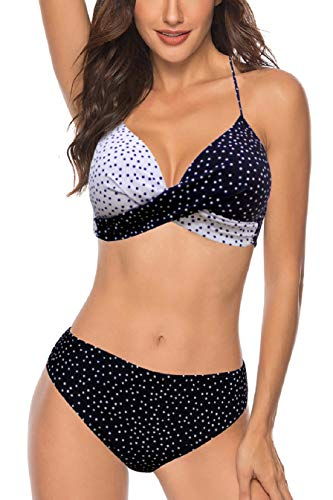 Tuopuda Bikinis Mujer Push up con Relleno Mujeres Sujetador Conjunto de Traje de BañO Coincidencia de Diseño Bicolor Ropa de Dos Piezas para Playa