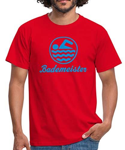 Bademeister Logo Männer T-Shirt, XL, Rot