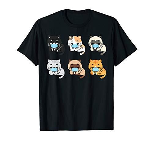 Cat Face Mask, Cute Pet Cats Lovers Gift Quarantine Cat Mom T-Shirt