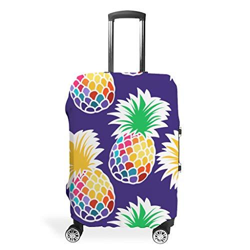 Zhcon Luggage case Cover Fashion Spandex Luggage Cover Protector Anti-Thief Luggage Protector Case Pineapple Fruit Printed White s (49x70cm)