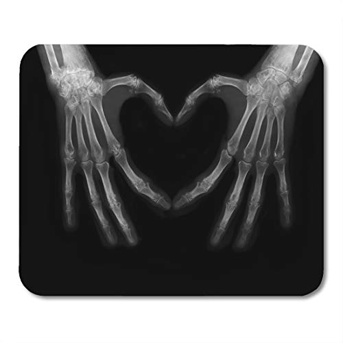 """Emvency Mouse Pads Xray Bones of Hands Making The Sign Love Heart Science Body Arthritis Mousepad 9.5"""" x 7.9"""" for Laptop,Desktop Computers Accessories Mini Office Supplies Mouse Mats"""