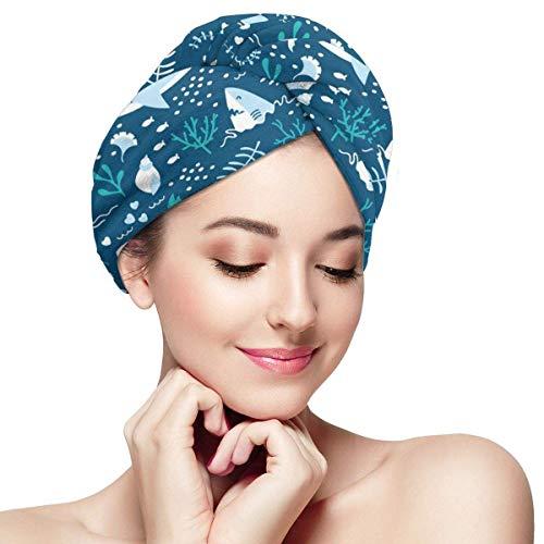 QHMY Serviettes de Cheveux de mer Profonde (11) Casquettes de Cheveux à séchage Rapide pour Spa de Bain