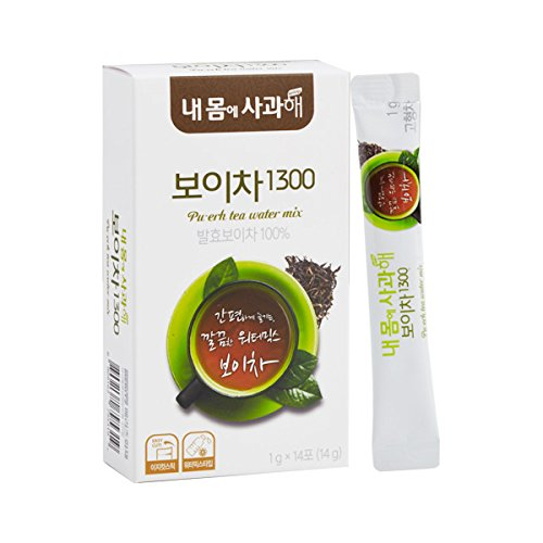 [Dr. MOON] Pu-erh Tea Water Mix 1300 (1g x 14 packets) – Fermented for 1300-Days, 100% Pure Pu-erh Tea from Yunnan Province, High Antioxidant, Natural Metabolism Booster