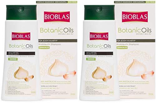 2 x Knoblauch Shampoo 360 ml Bioblas, Geruchlos, Anti Haarausfall Frauen und Männer (2 x 360ml SPARPACK)