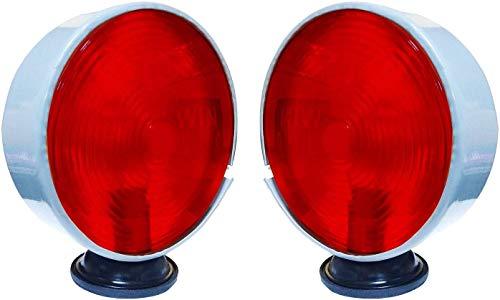 Bajato: Lampe de Signalisation Sécurité pour Massey Ferguson Autres Tracteurs Paire 12V Rouge-Rouge- 11000609