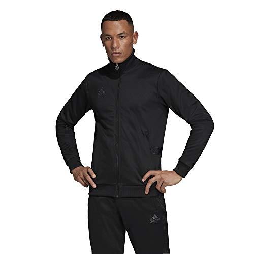 adidas Condivo 18 - Chaqueta de poliéster para hombre (talla L), color negro