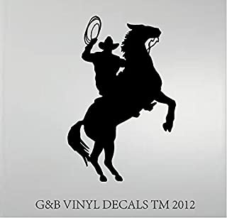 """Cowboy Horse Rider Western Wall Decal Home Decor Silhouette 20""""x 13"""""""