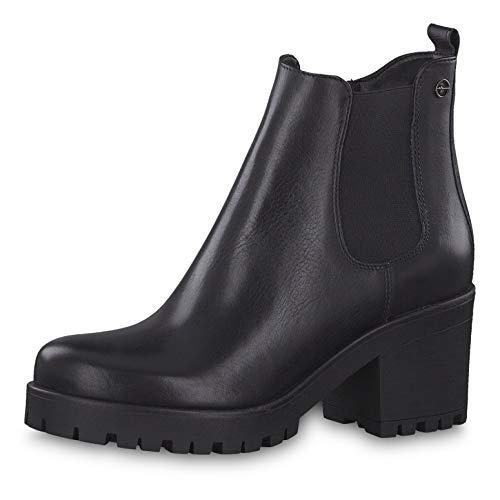 Tamaris Damen Stiefeletten 25464-33, Frauen Chelsea Boots, Schlupfstiefel Frauen weibliche Lady Ladies feminin elegant Women,Black Uni,39 EU / 5.5 UK